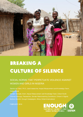 Breaking a Culture of Silence: Social norms that perpetuate violence against women and girls in Nigeria