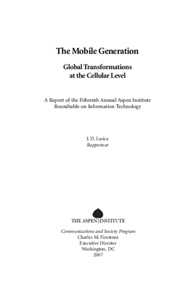 The Mobile Generation: Global Transformations at the Cellular Level