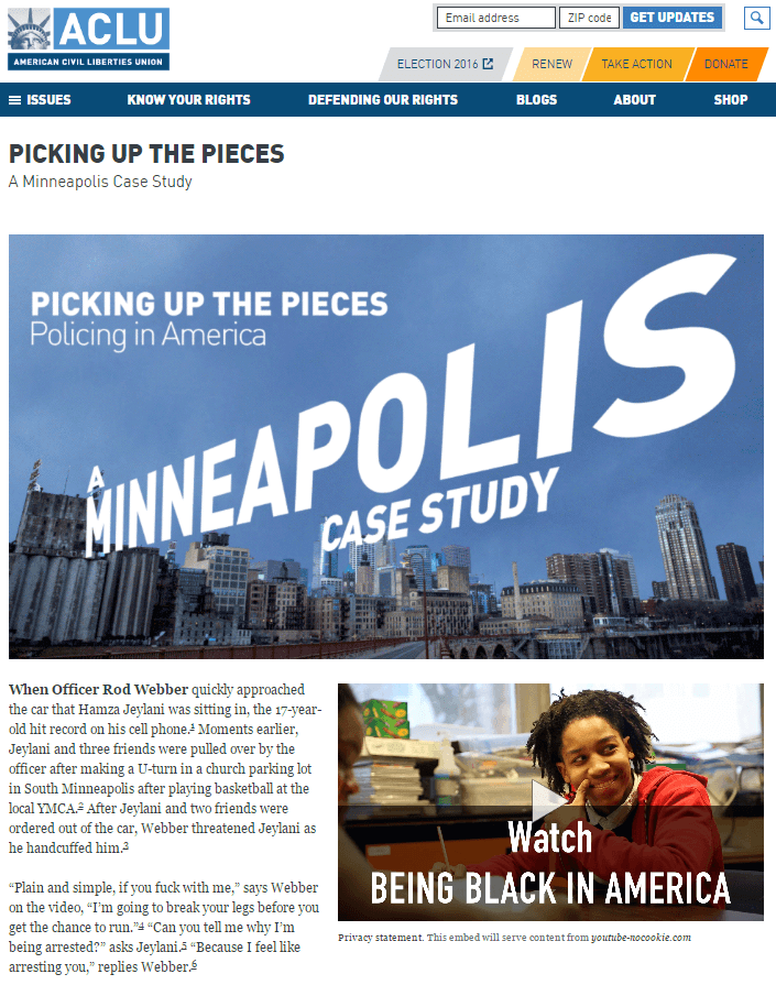 Picking Up the Pieces: A Minneapolis Case Study
