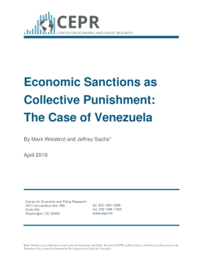 Economic Sanctions as Collective Punishment: The Case of Venezuela