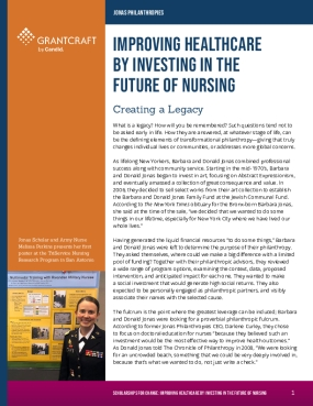Improving Healthcare by Investing in the Future of Nursing