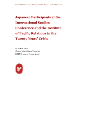 Japanese Participants at the International Studies Conference and the Institute of Pacific Relations in the Twenty Years' Crisis
